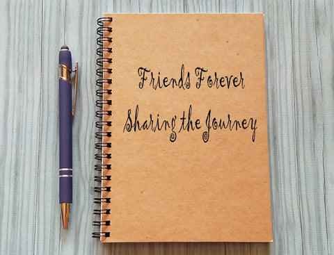 Friendship Notebook: Friends Forever Sharing the Journey