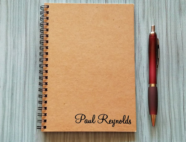 Personalized Notebook: Name at the Bottom