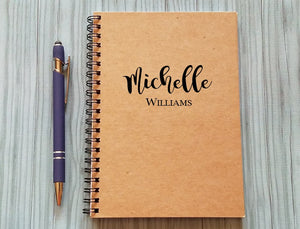Personalized Notebook: Name at the Top