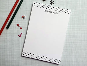 Notepad: Triangle Print