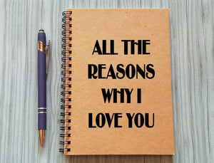 Couples Journal - All the Reasons Why I Love You