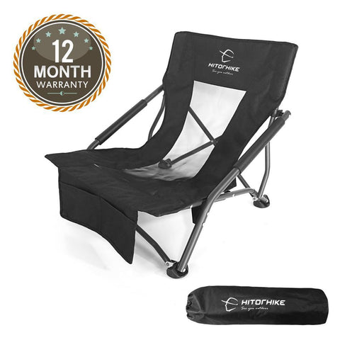 folding low sling beach chair