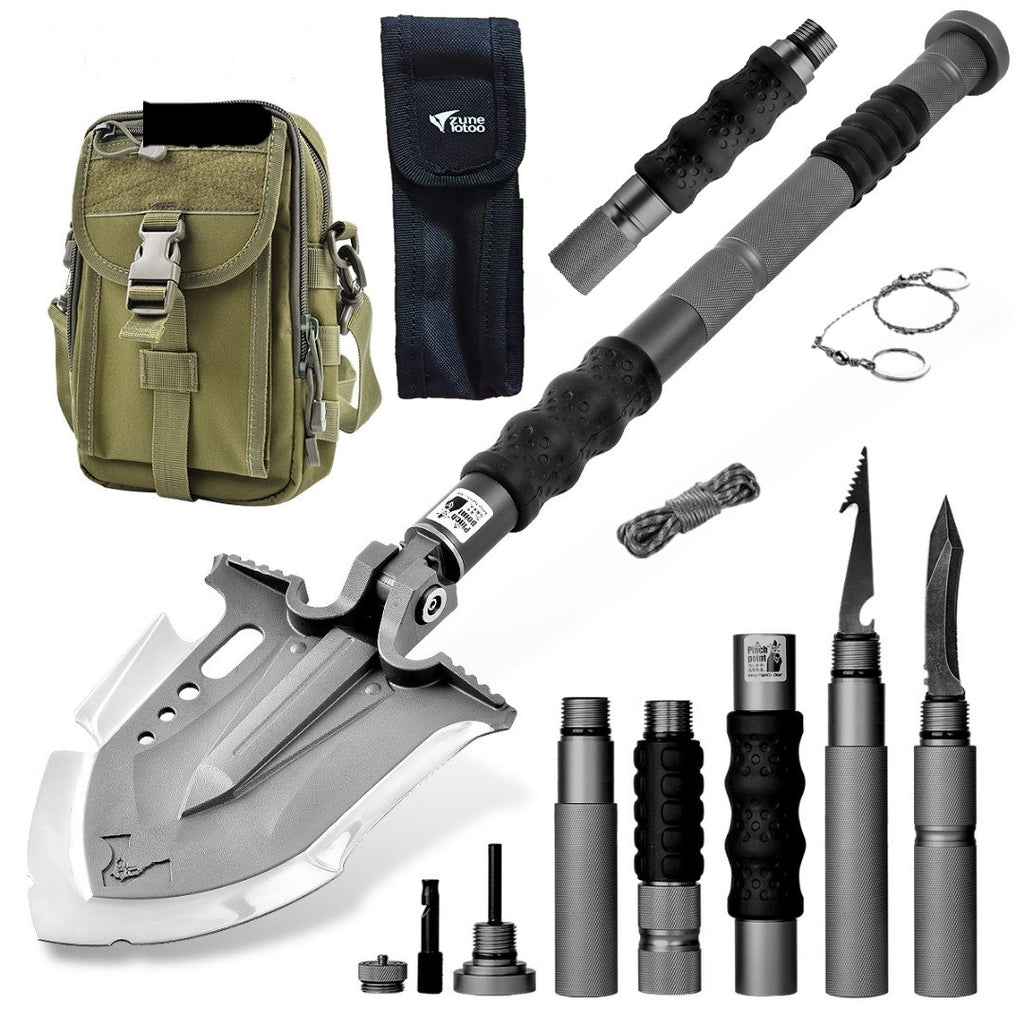 F-A3 Tactical Shovel w/Military Pouch and Handle Extension