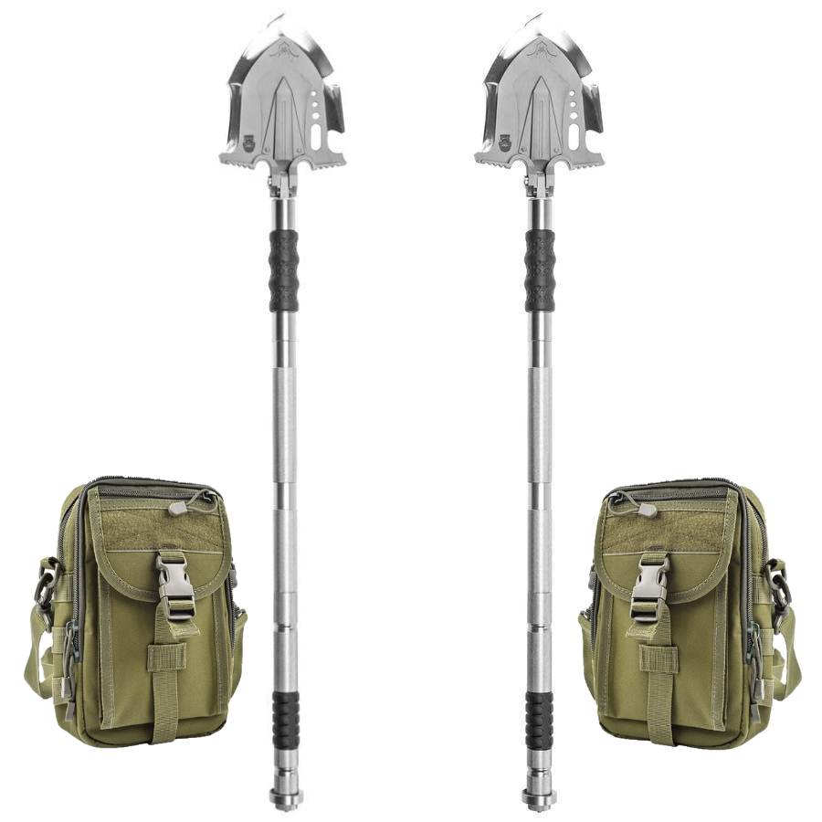 F-A3 Survival Shovel w/Military Style Pouch 2 Pack