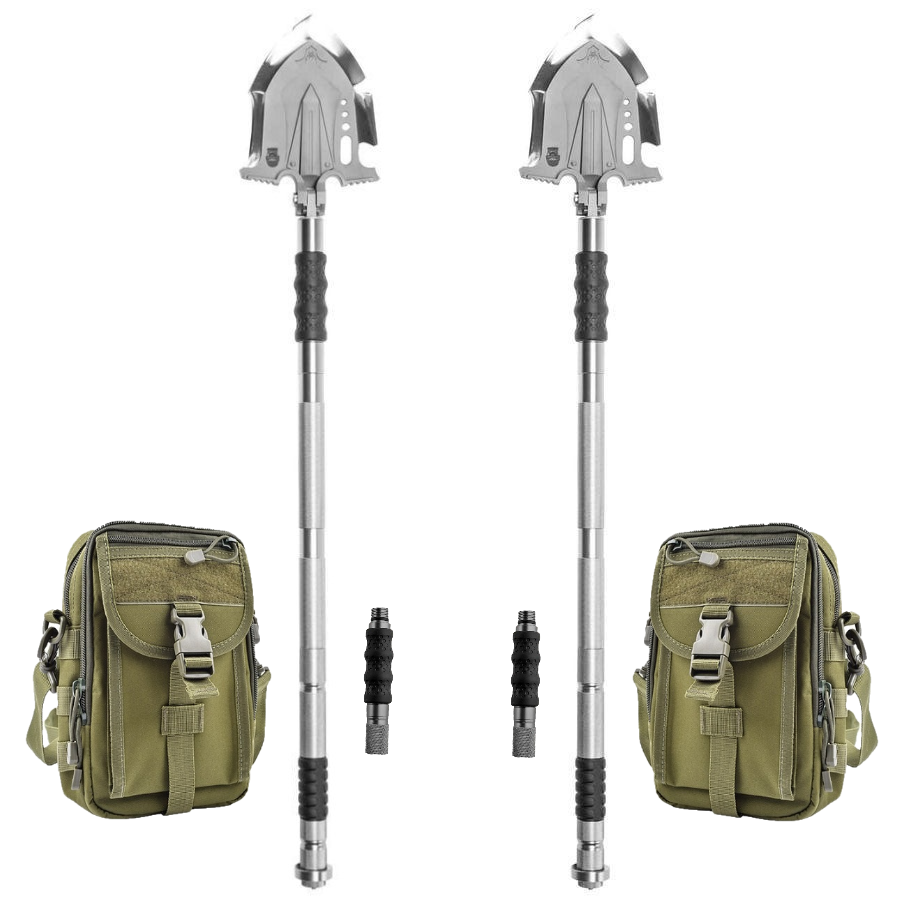 F-A3 Tactical Shovel w/Military Pouch and Handle Extension 2 Pack