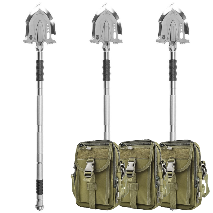 F-A3 Survival Shovel w/Military Style Pouch 3 Pack