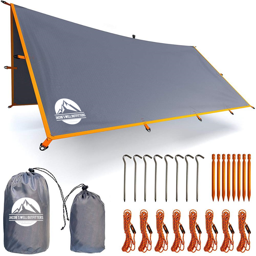 Jacob's Well Outfitters, Jacob's Well Camping Tarp, Camping Tarp, Ultralight Camping Tarp, best camping tarp, lightweight camping tarp, camping shelters, best camping shelter