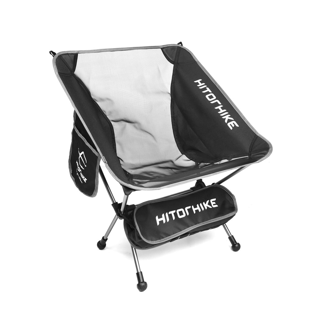 Hitorhike lightweight camping chair in black