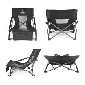 fold up low slung beach lounger