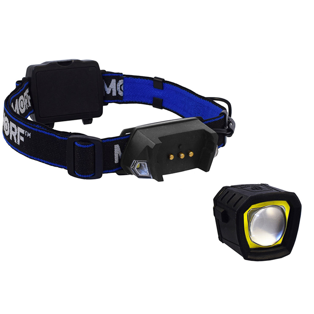 MORF R230 Head Lamp, MORF Head Lamp, Hiking Head Lamp, Head Lamp, Camping Head Lamp, Rechargeable Head Lamp, Removable Head Lamp