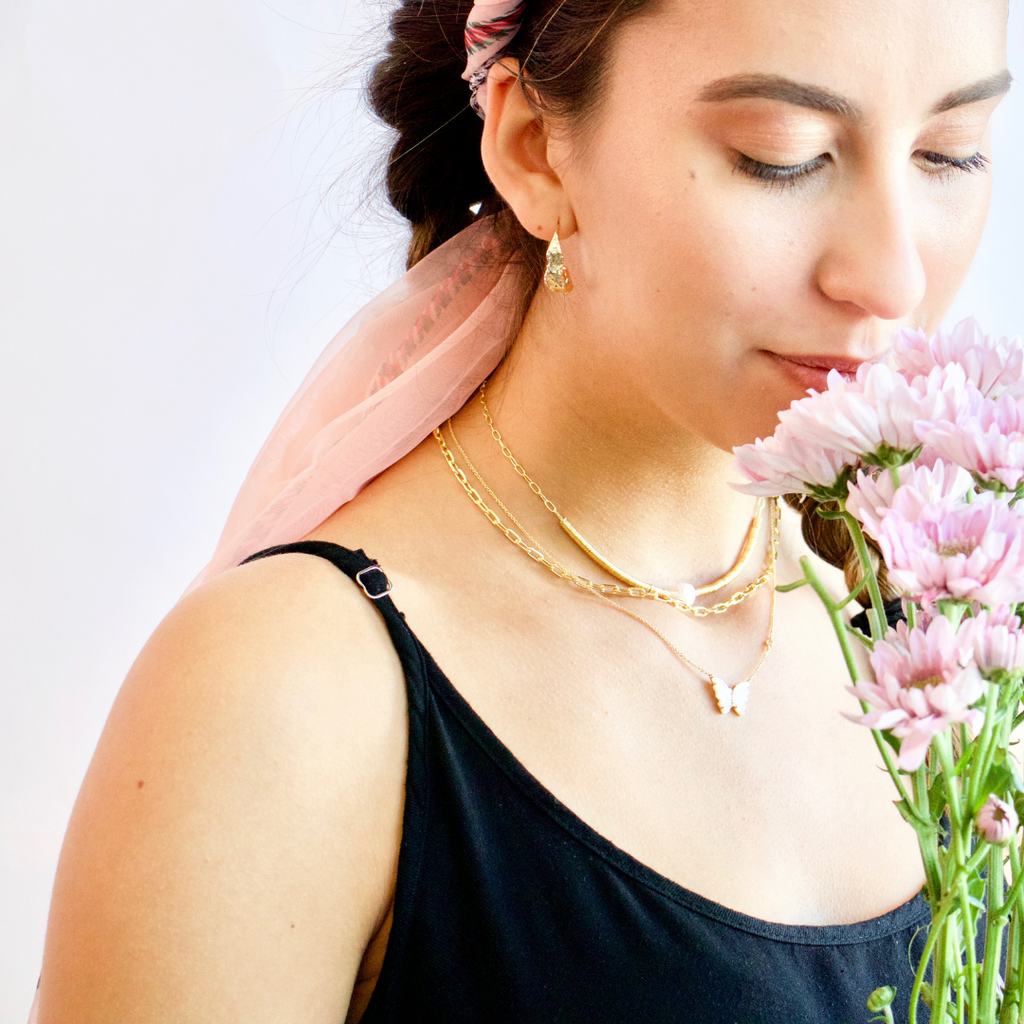 Butterfly Necklace stack