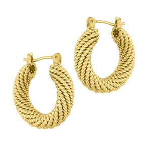 electric picks presley hoop gold earring