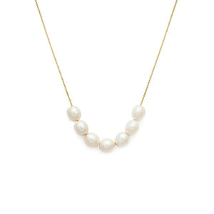 Mini Mer Pearl Necklace