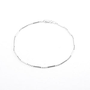 Bar and Ball Chain Anklet