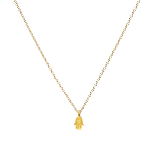 dogeared all is well hamsa gold necklace