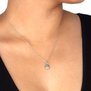 dogeared love pebble silver necklace