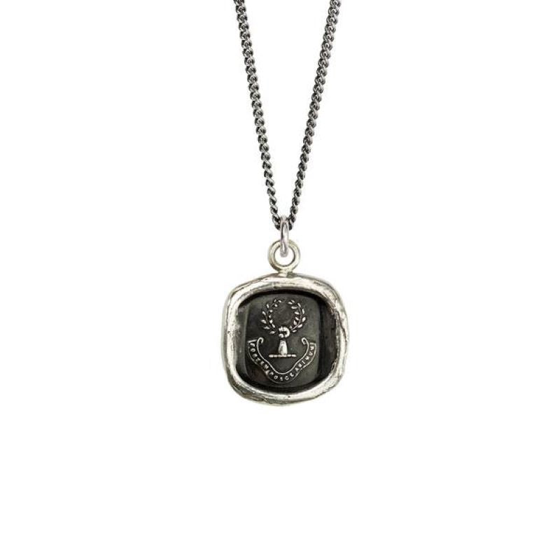 pyrrha inner strength silver necklace