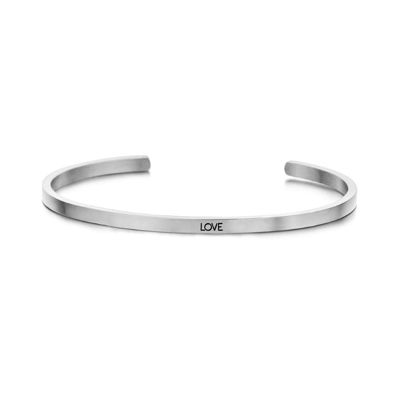 key moments love silver bangle