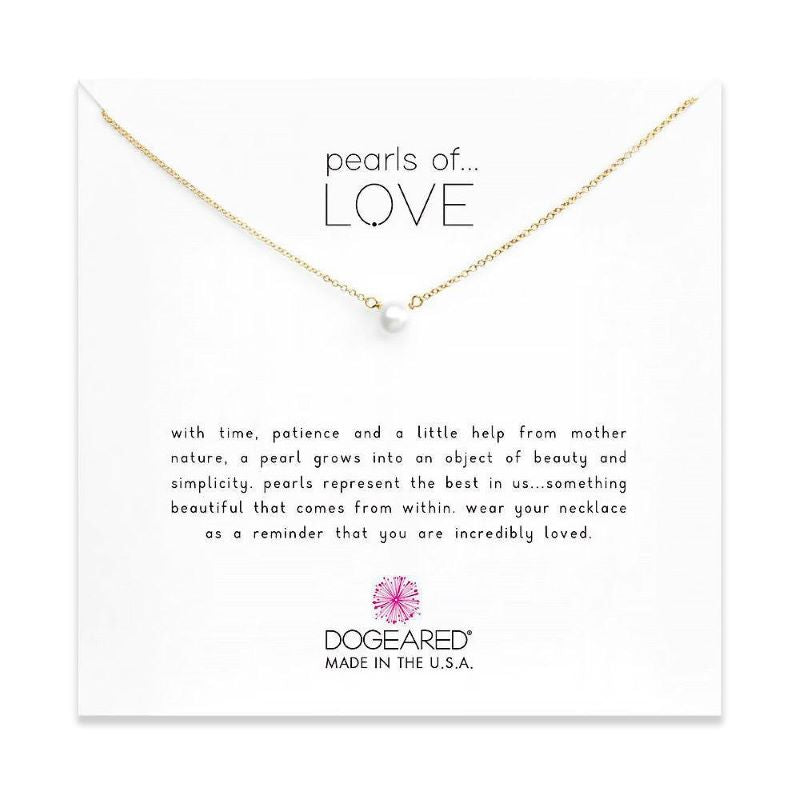 dogeared pearls of love silver necklace