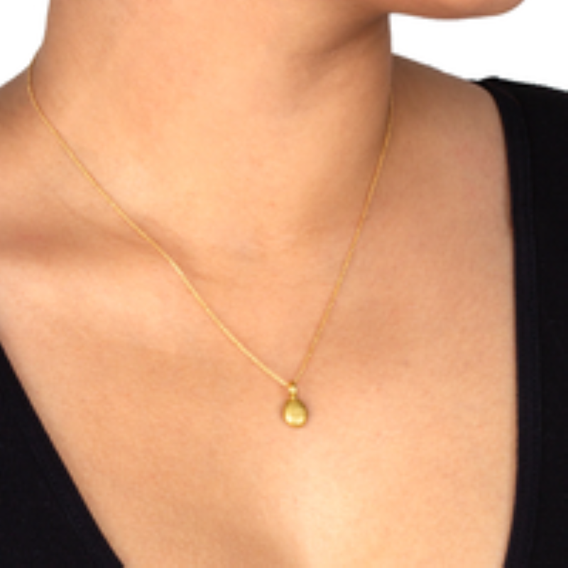 dogeared love pebble gold necklace