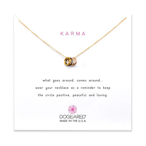 dogeared tiny karma sparkle gold necklace