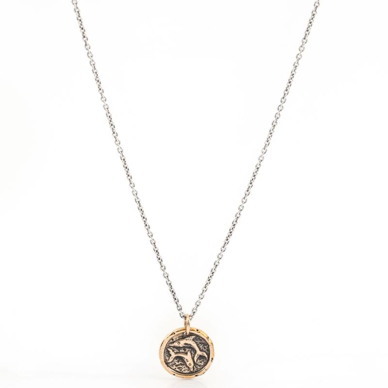 house of alaia love balance dolphin necklace