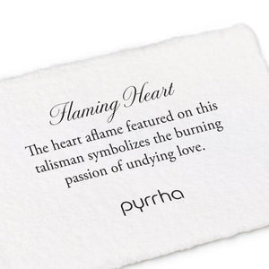pyrrha flaming heart necklace