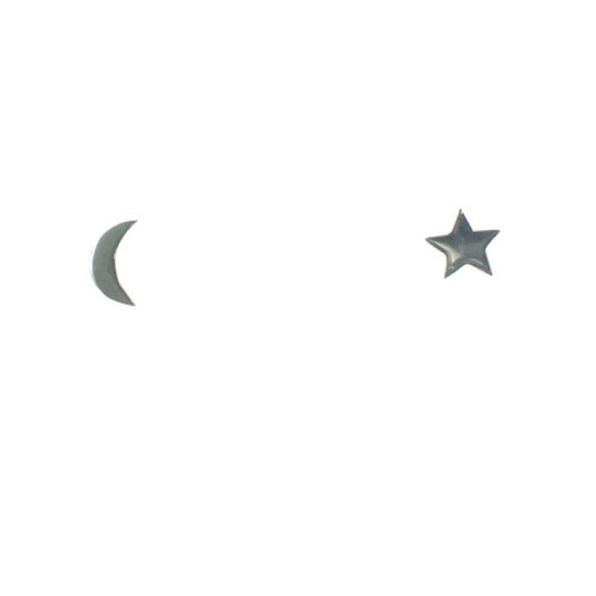 Star + Moon Stud Earring
