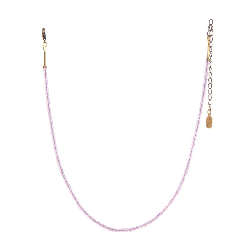 hailey gerrits stone necklace pink amethyst