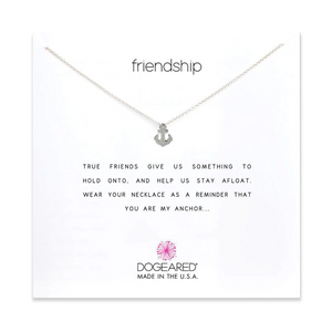 dogeared frienship anchor silver necklace