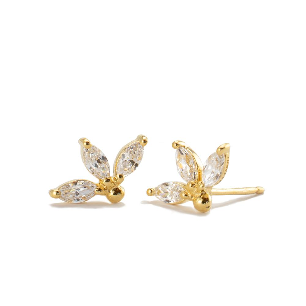 Three Cz Stud Earring