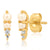 Pearl and CZ Spike Stud Earring