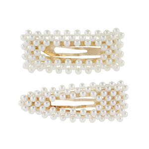 Triangle and Rectangle Pearl Barrette