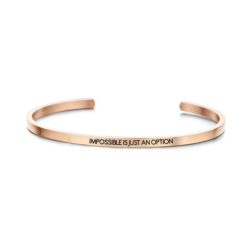 key moments impossible option rose gold bangle