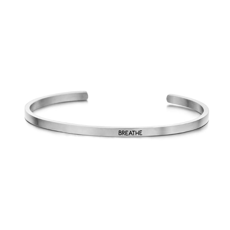 key moments breathe silver bangle