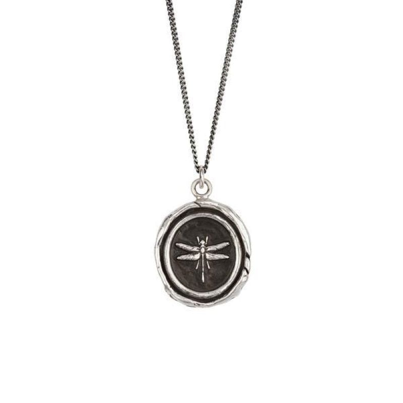 pyrrha dragonfly necklace