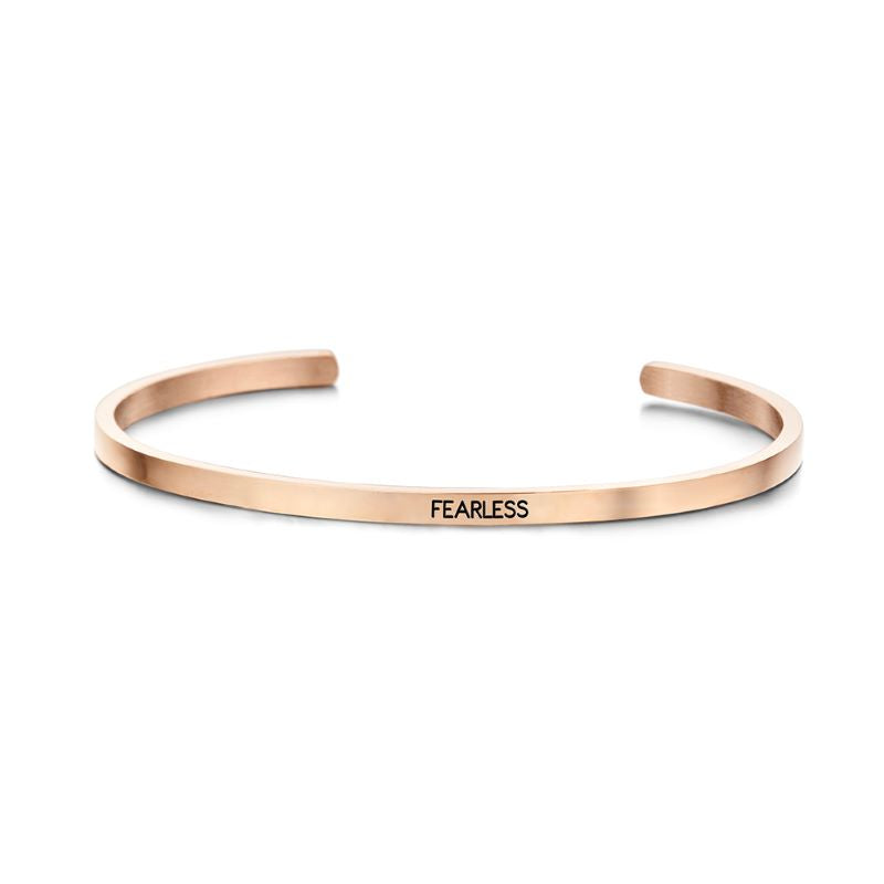 key moments fearless rose gold bangle