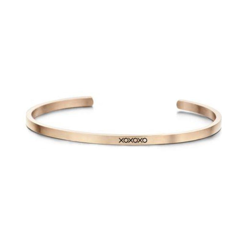 key moments xoxoxo rose gold bangle