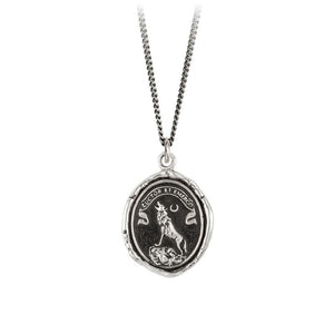 pyrrha struggle and emerge wolf silver necklace