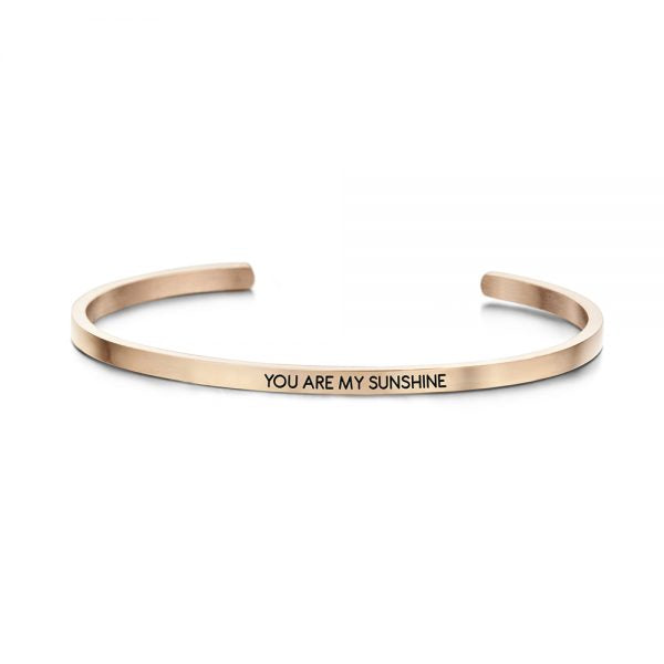 key moments you are my sunshine gold bangle