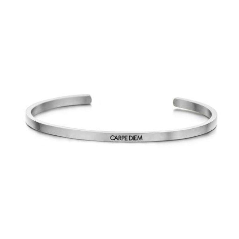 key moments carpe diem silver bangle
