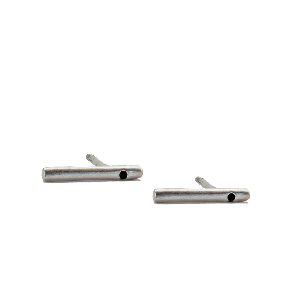Silver Bar Earring