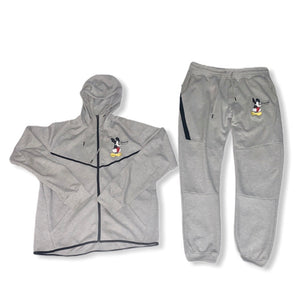 "Women's Gray Mickey Mouse ""Are you dumb"" Tech Fleece"