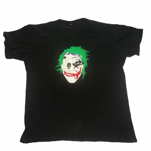 Menswear Black Custom Joker Logo T-shirt
