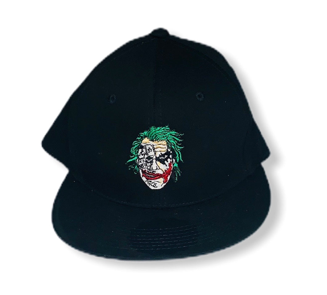 Black Custom Joker Snapback