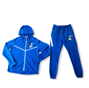 "Custom Royal Blue ""Are you dumb""  Mickey Mouse Tech Suit"