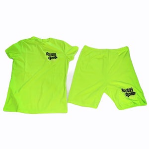 Women's Neon FGLB Custom Two Piece Shorts Set