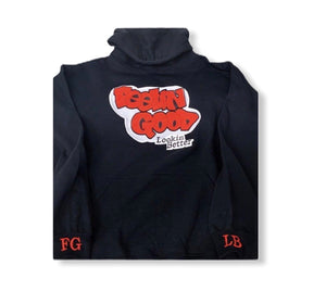 Men's Black FGLB Custom Pullover Hoodie