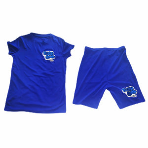 Women's FGLB Custom Royal Blue Two-piece Shorts Set