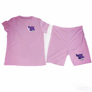 Women's FGLB Custom Pink Two-piece Shorts Set